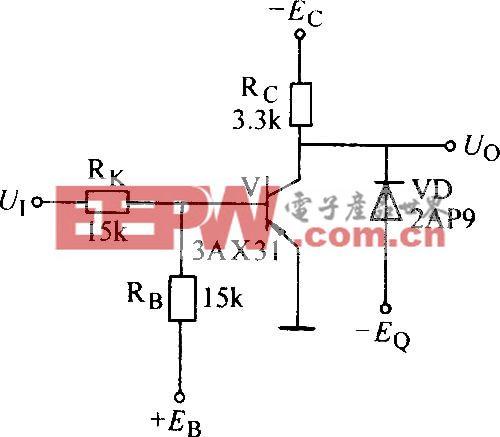 输出有钳位二极管的非门电路