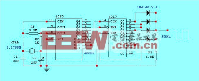 50Hz时基信号发生器电路