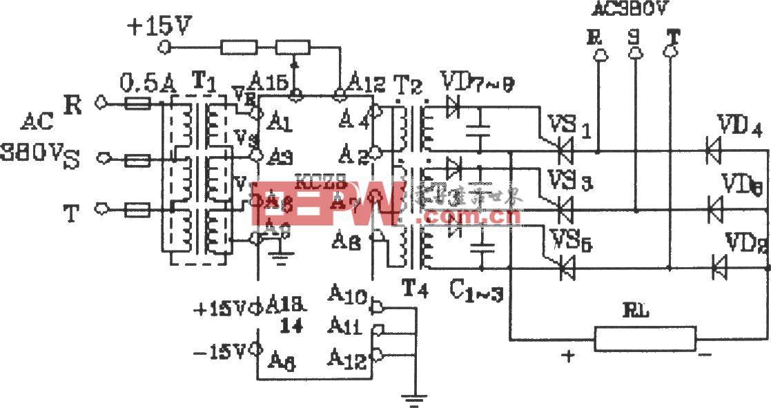 KCZ3在三相半控变流器中的应用