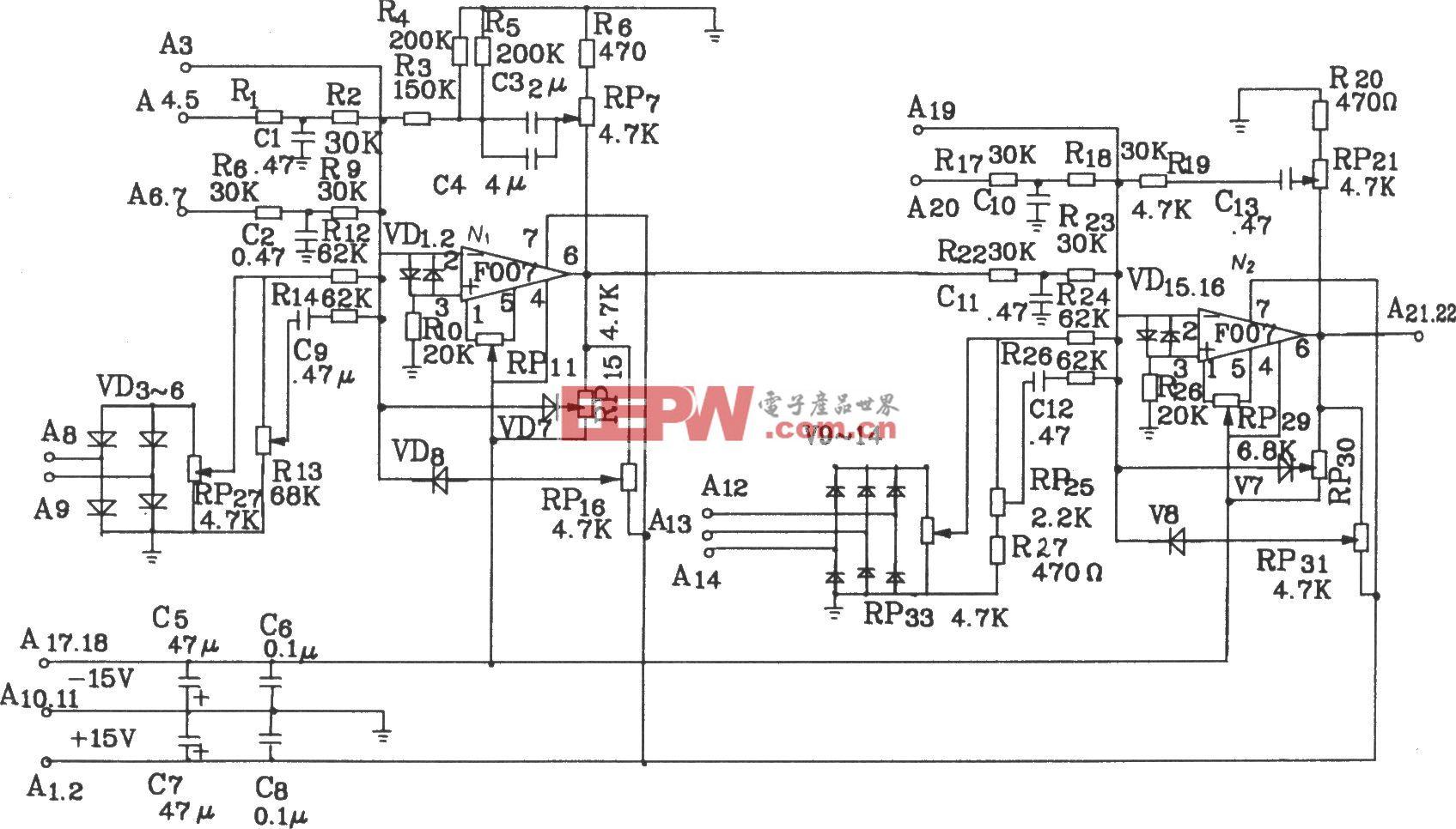 KJT1调节控制板电原理图