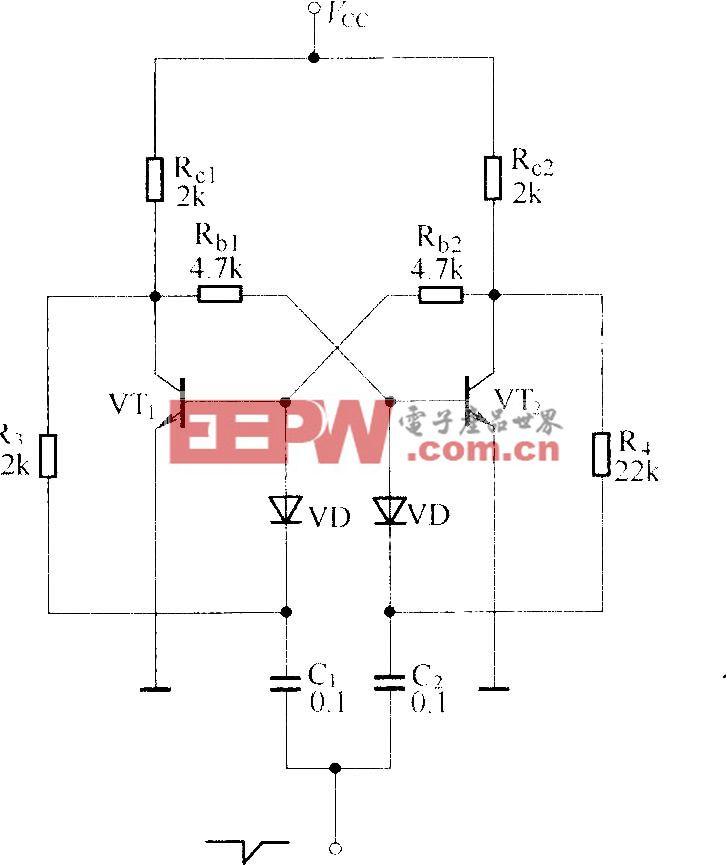 晶体管双稳态触发电路