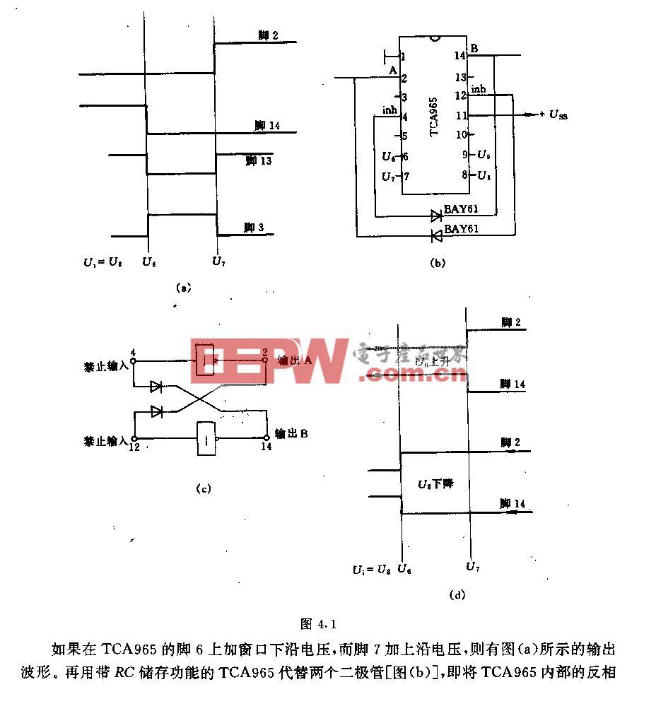 具有R5储存功能的TcA965窗口鉴别器电路