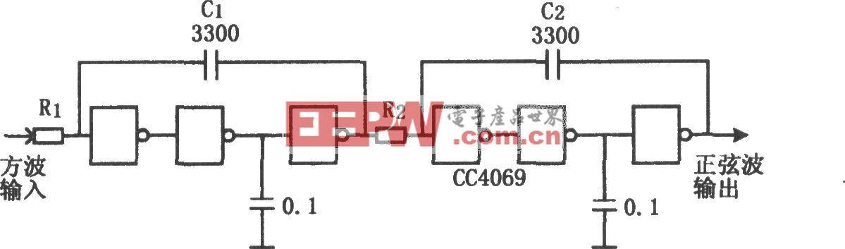 CC4069构成的低成本积分器