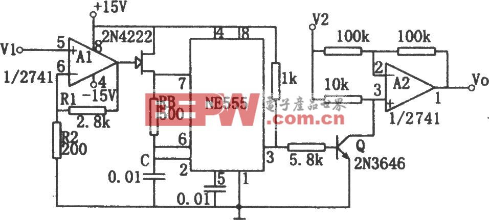用NE555构成的除法电路