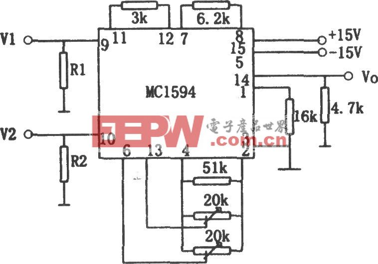 交流电压乘法器(MC1594)