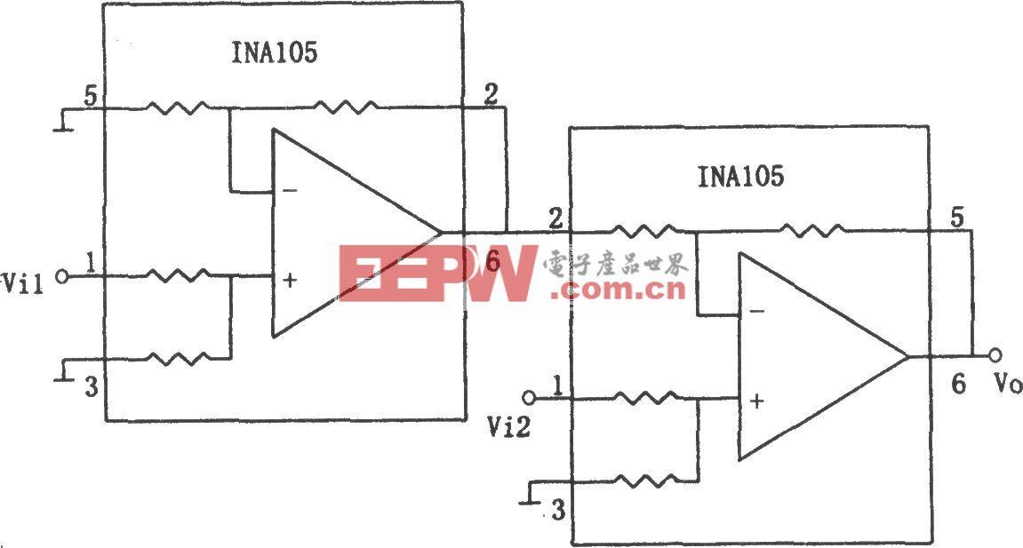 INA105构成的减法电路(2)