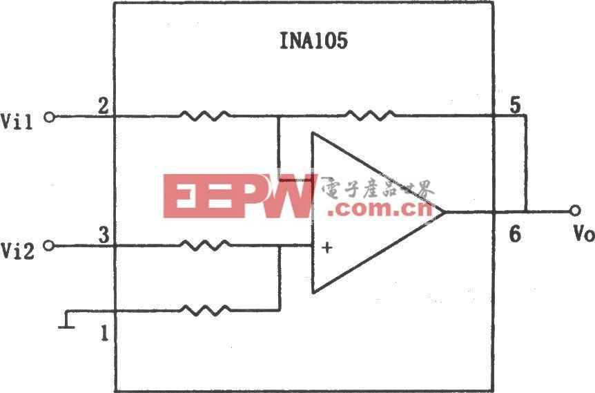 INA105构成的减法电路(1)