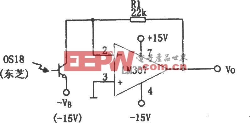 LM307构成的光电接收放大器
