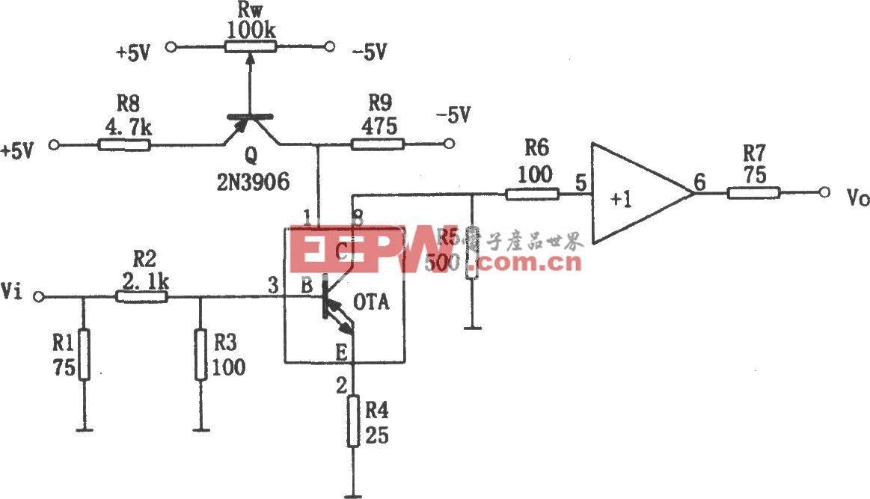 可变增益放大器(OPA660)