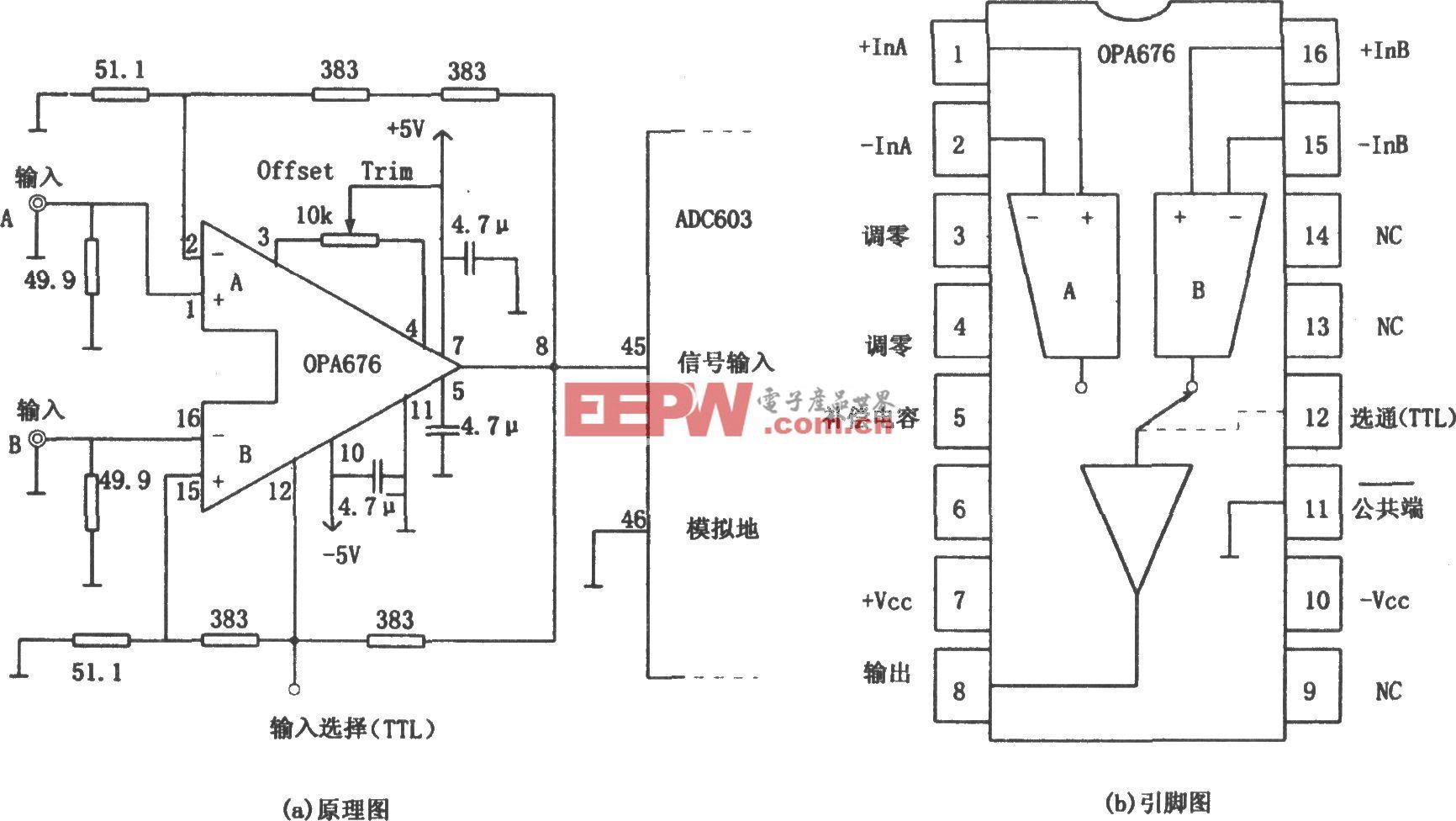OPA676构成的24dB两路传输缓冲放大器