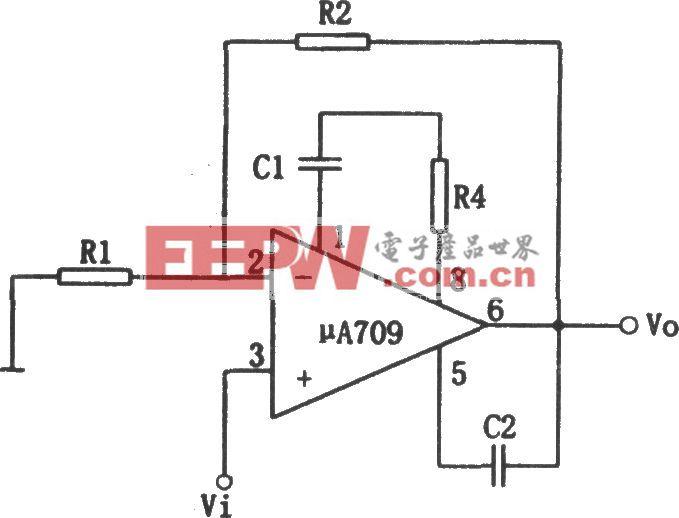 μA709构成的基本同相放大电路