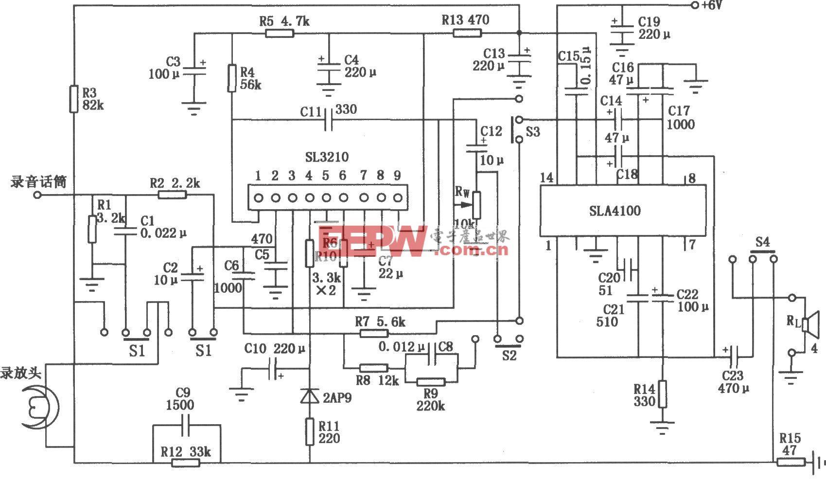 SLA4100构成的录放电路