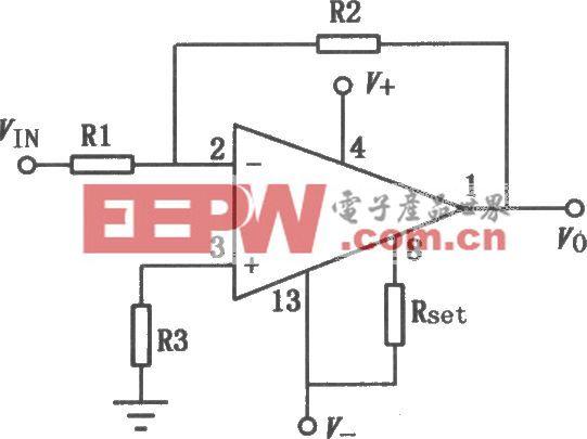 CFl4753单、双电源高输入阻抗四运放
