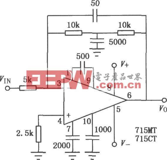 μA715雙電源寬頻帶高速單運放