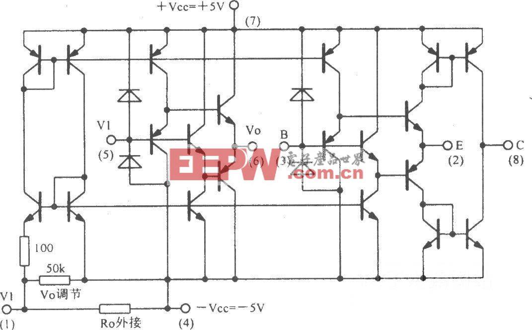 宽带运算跨导放大缓冲电路OPA660