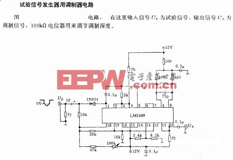 试验信号发生器用调制器电路