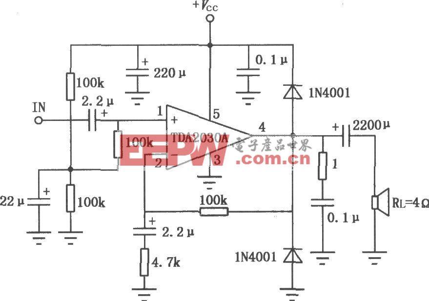 TDA2030A音频功率放大电路