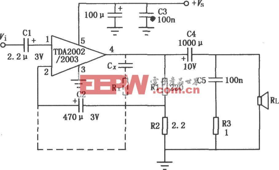 TDA2002/2003 8W音频功率放大电路