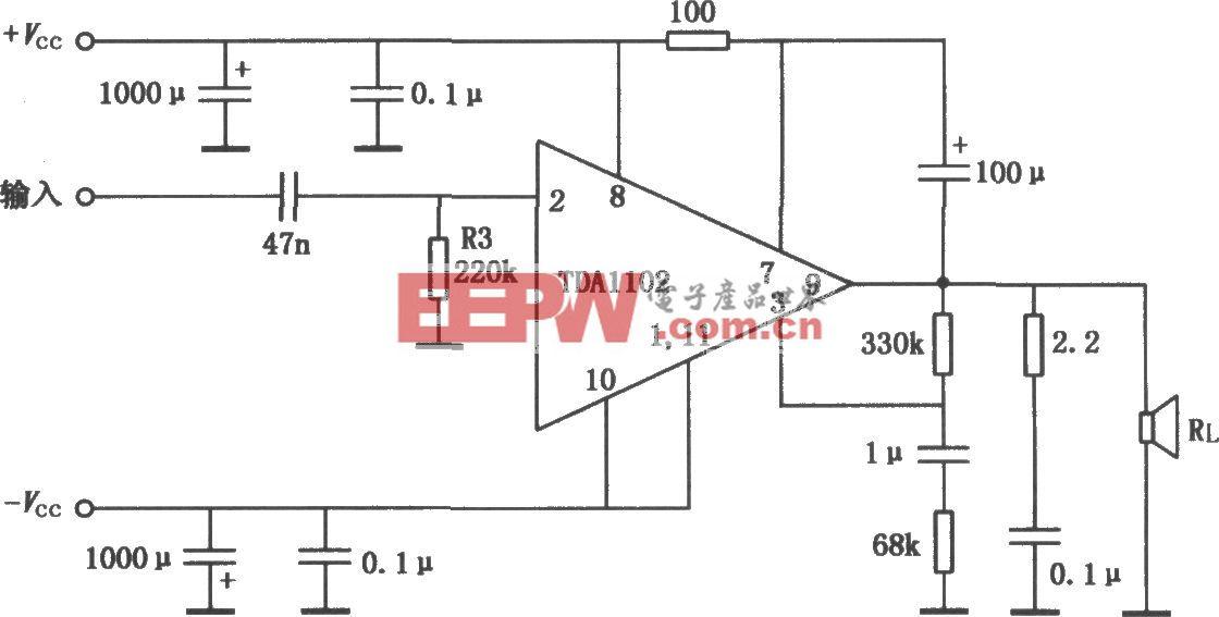 TDA1102 20WHi-Fi功率放大电路