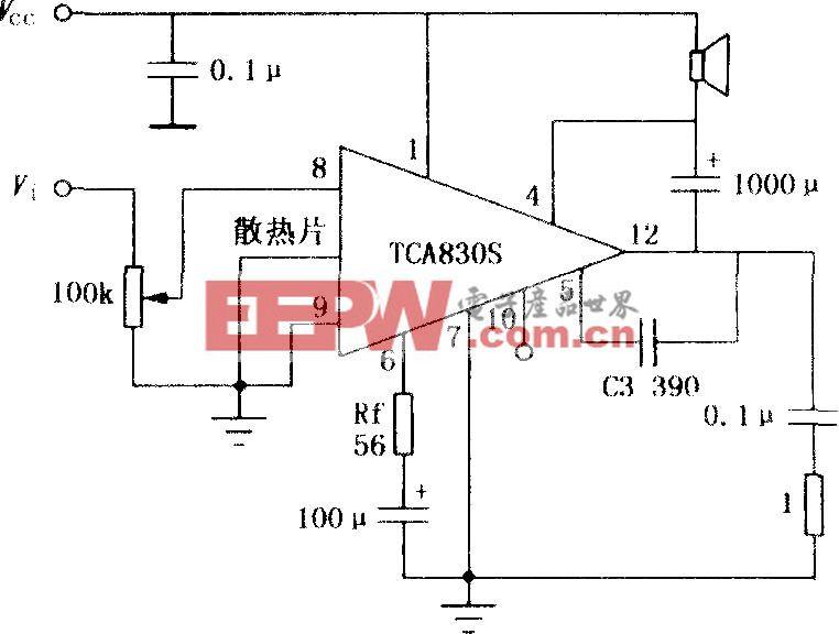 TCA830S 4.2W音頻功率放大電路
