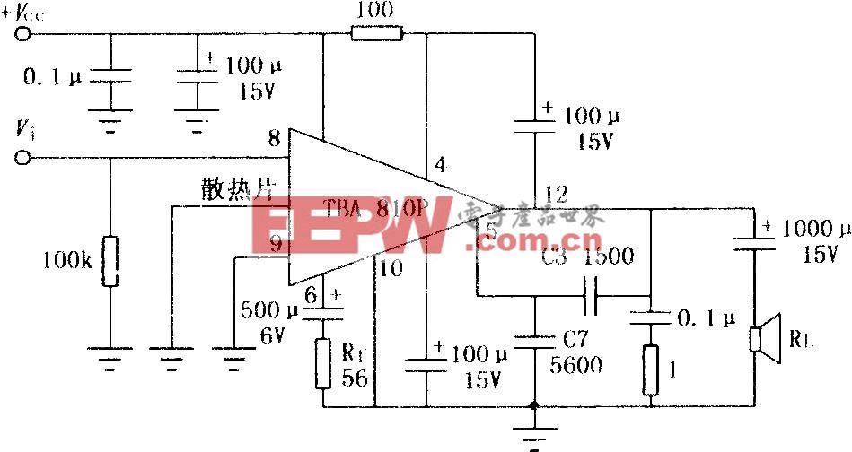 TBA810P/810AP 7W音频功率放大电路
