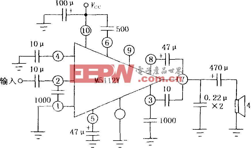 M5112Y 5W音频功率放大电路
