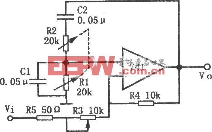 Q值和频率可调的窄带滤波器(741)