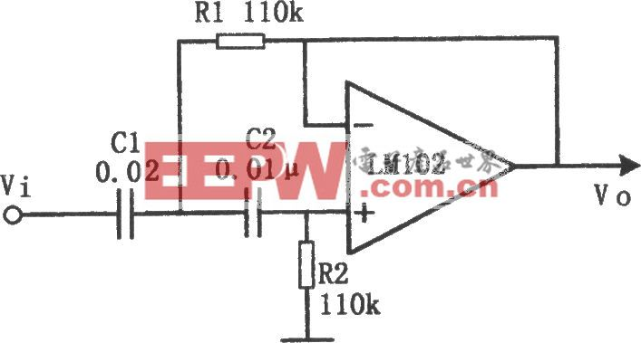 有源高通滤波器(LM102)