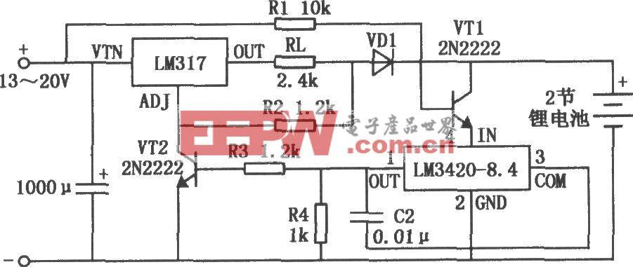 LM3420-8.4构成的锂电池快速充电器