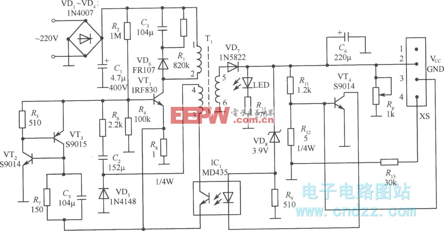 SPN4096A充电器电路图