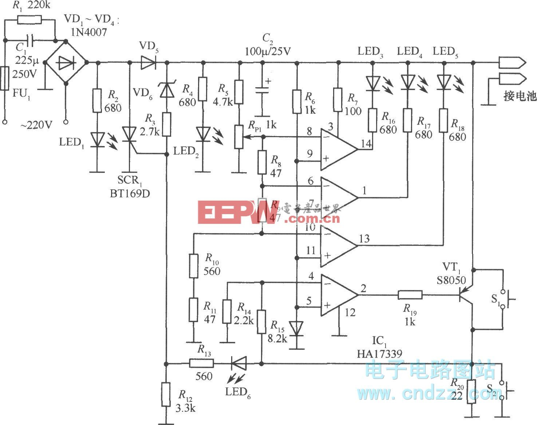 爱立信788旅行式充电器电路图