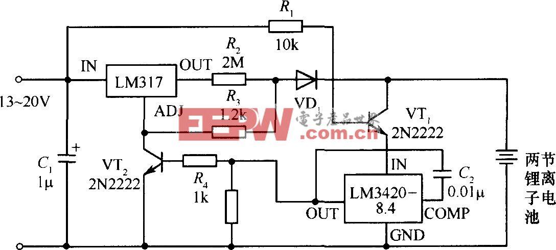 锂离子电池充电器电路图