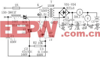 可调型汽车蓄电池充电器电路
