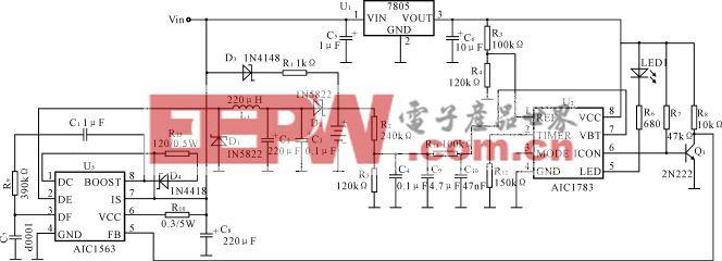 镍氢/镍镉电池快速充电控制器AIC1783充电电路