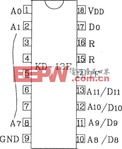 KD-12E/KD-12F构成4096路单一功能遥控发射/接收应用电路图