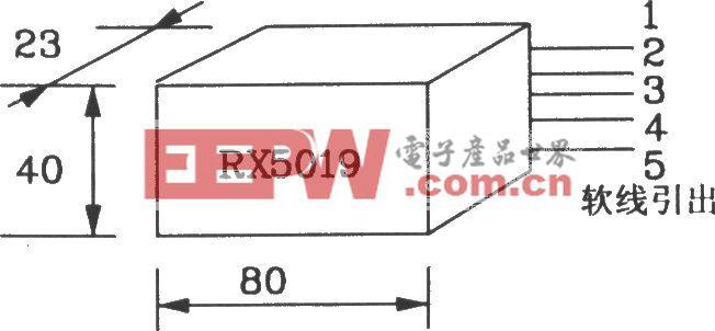 由RX5019/5020构成无线遥控发射、接收电路图