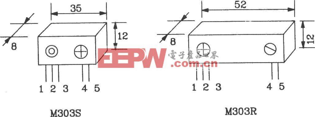 由M303S/303R构成的遥控编码发射、解码接收电路图
