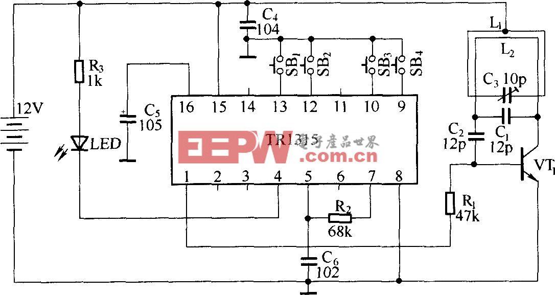 跳码型无线电遥控电路(TR1300/1315)