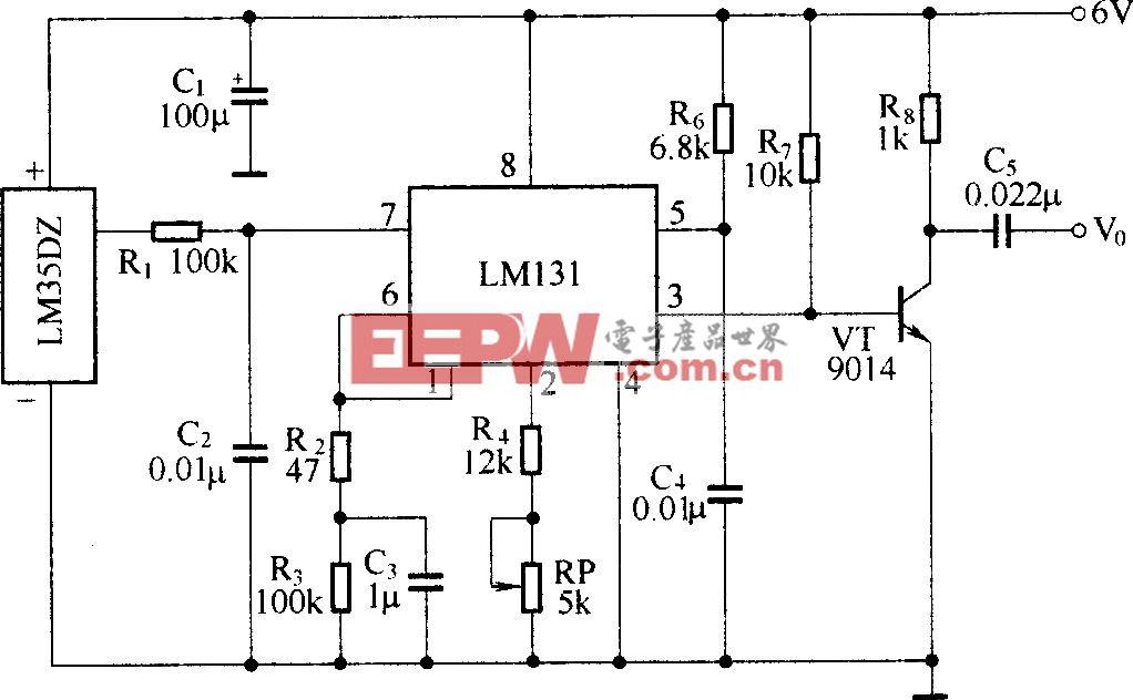温度检测、电压-频率变换电路