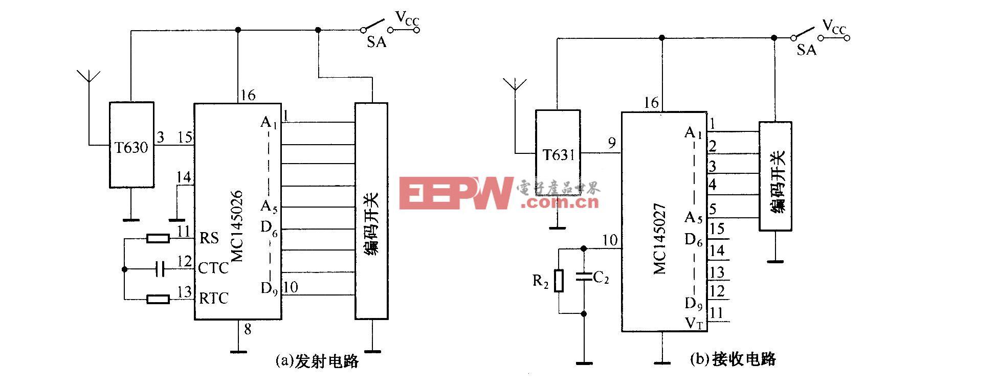 T630/T631组成的发射接收电路