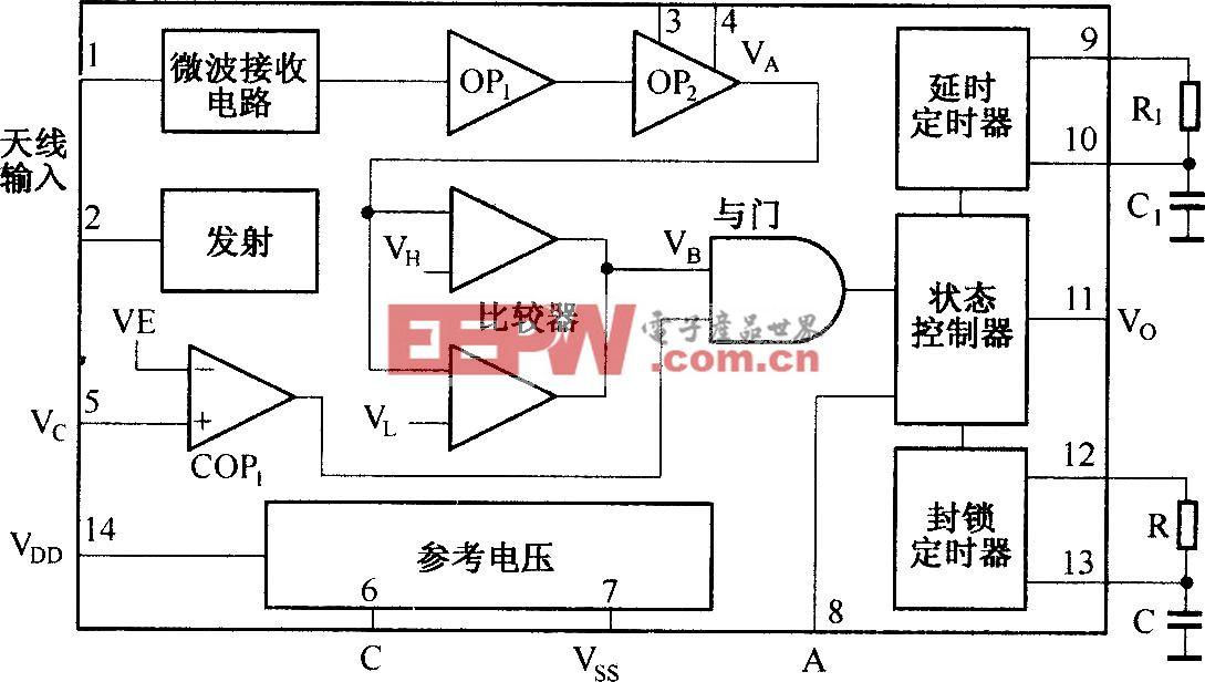 利用RD9481构成了多普勒效应自动开关电路