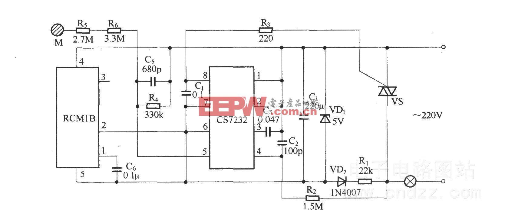 无线遥控/触摸调光电路(RCM1A/RCM1B)