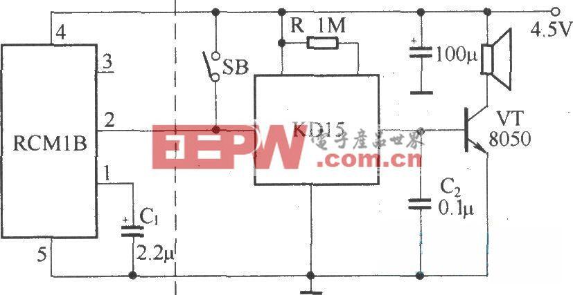 遥控语音门铃(RCMlA/RCMlB构成收发模块)