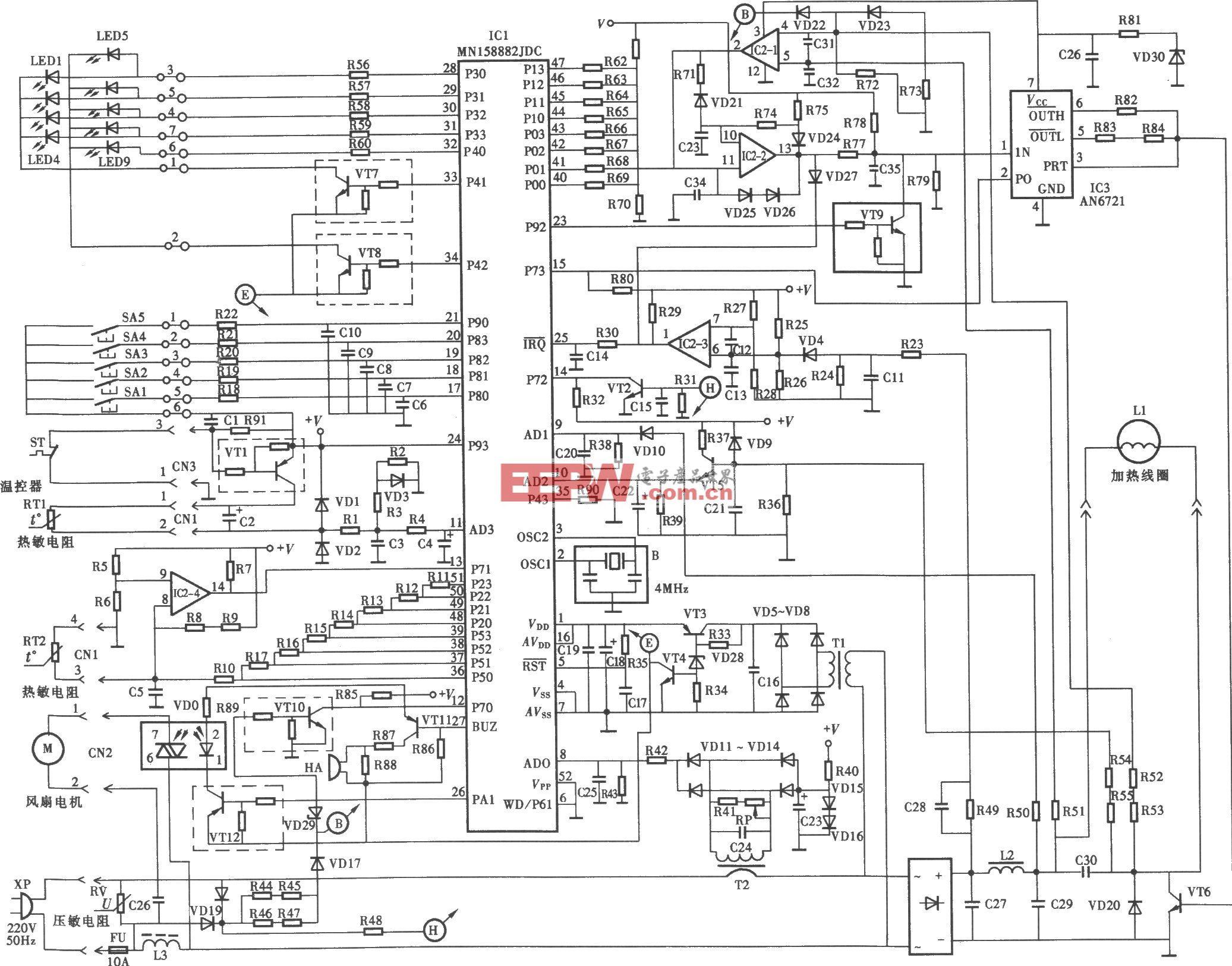 松下KY-P2N电磁炉电路