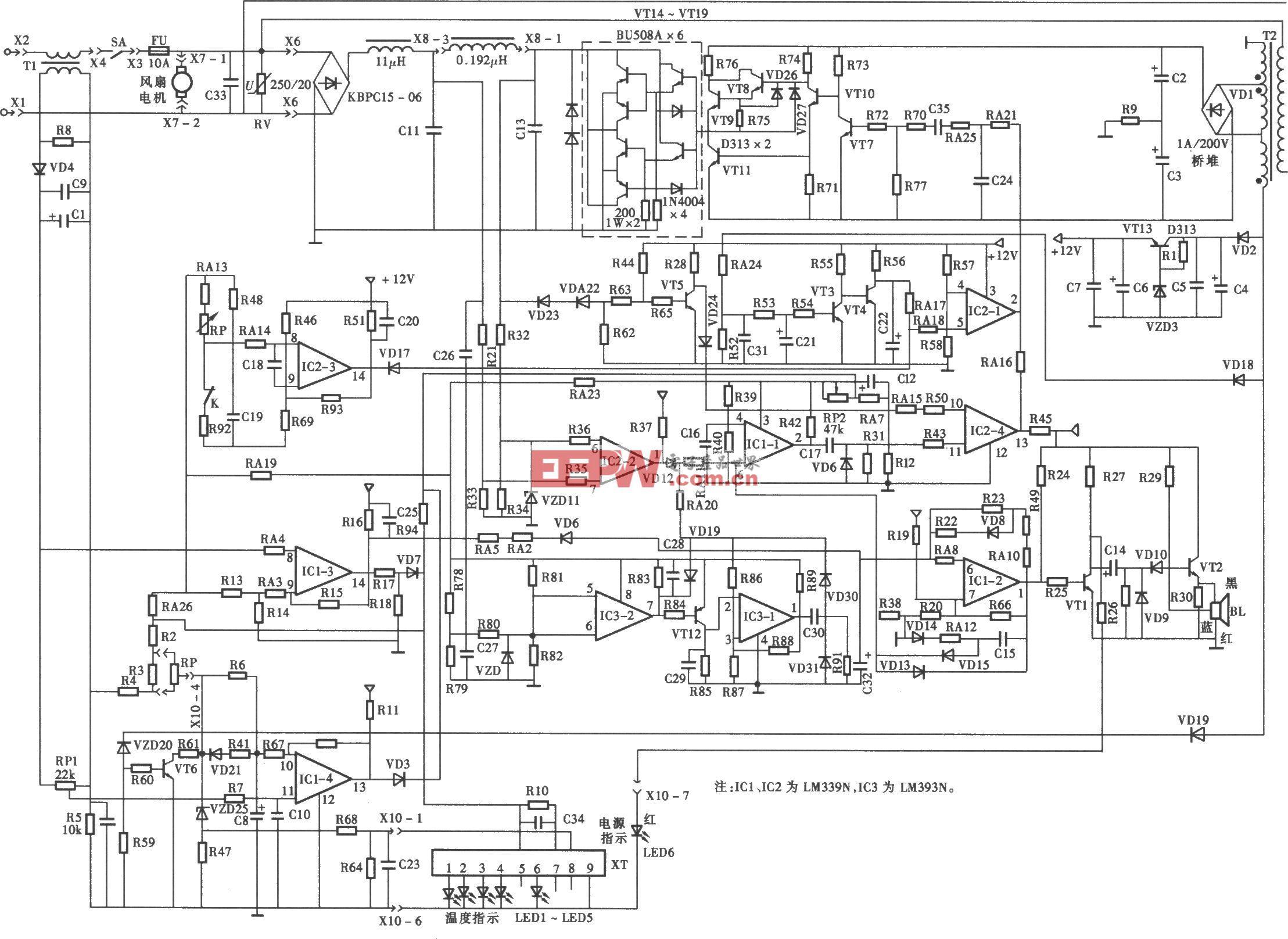 索浦SP-200型电磁炉电路