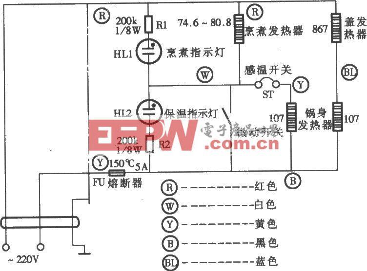 万宝CFXB50-2P电子保温式电饭锅电路