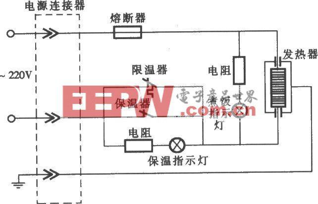 爱华CFXB型双指示灯保温式自动电饭锅电路