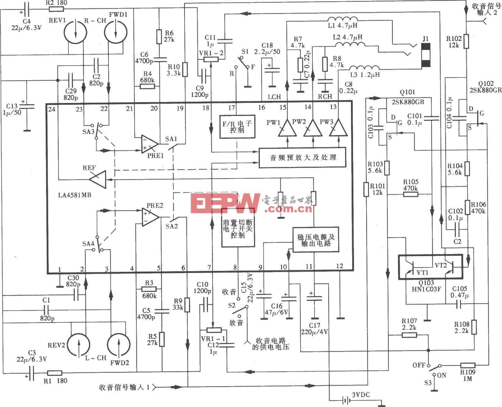 愛華HS-T系列隨身聽電路