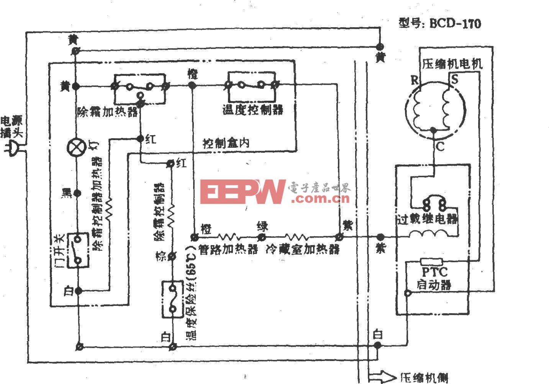 吉諾爾牌BCD-170電冰箱