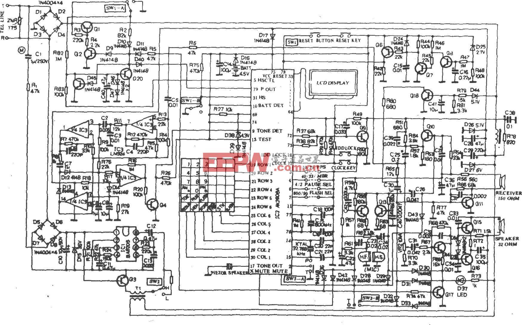HA30(III)P/TSDL型电话机